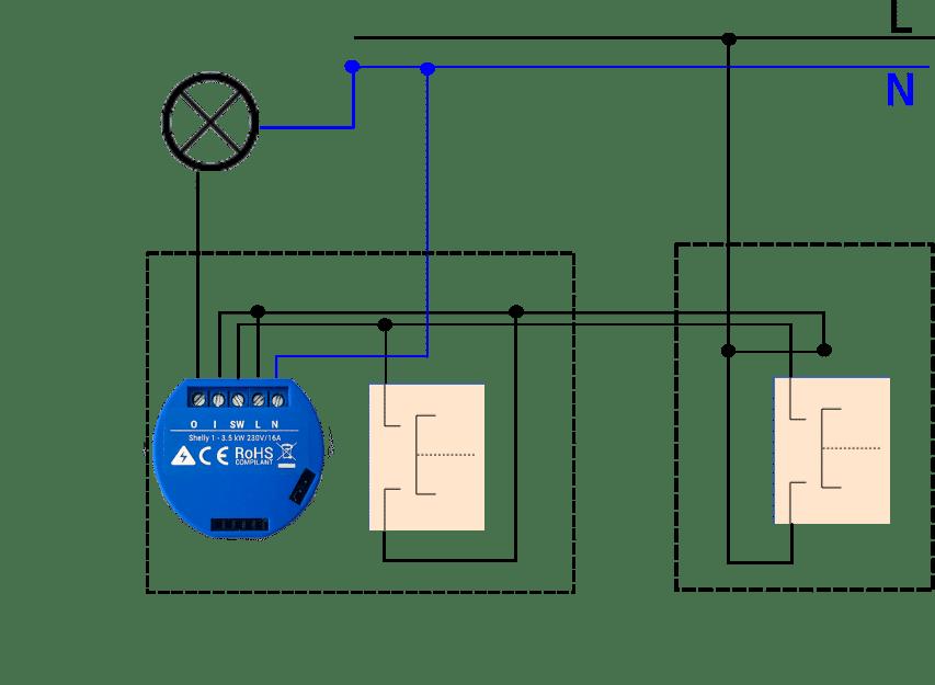 Alternatív váltókapcsoló nyomógombbal shelly yabune home